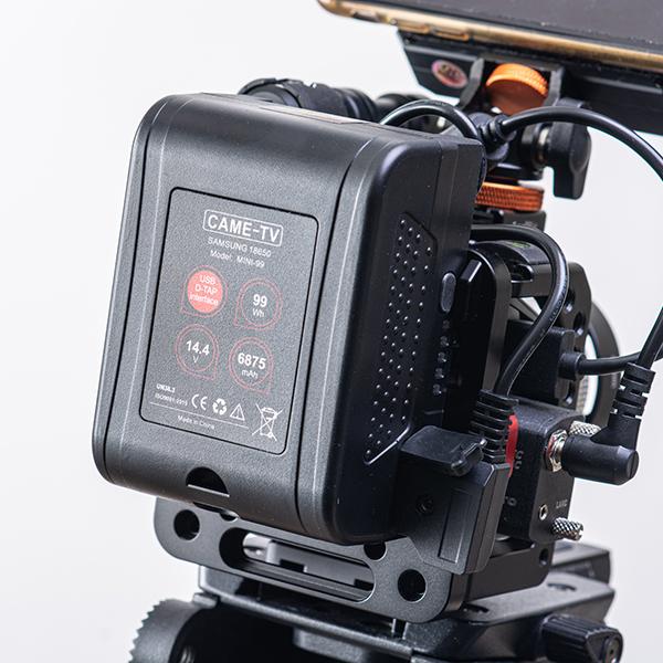 CAME-TV Mini 99WhコンパクトVマウントリチウムイオンバッテリー